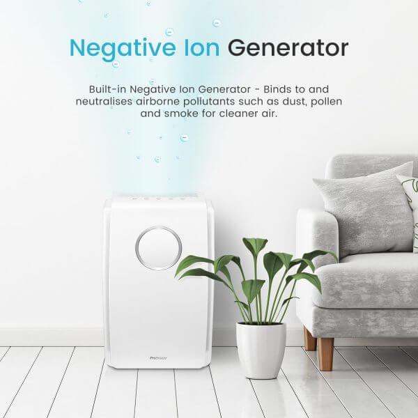 negative ion generator purifies the air