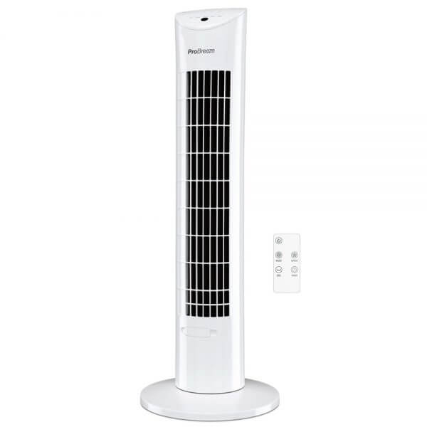 pro breeze tower fan and remote