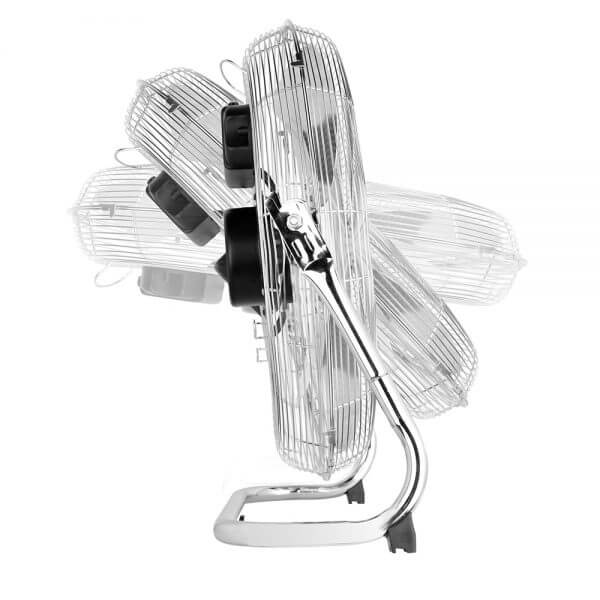 pro breeze chrome floor fan adjustable angle