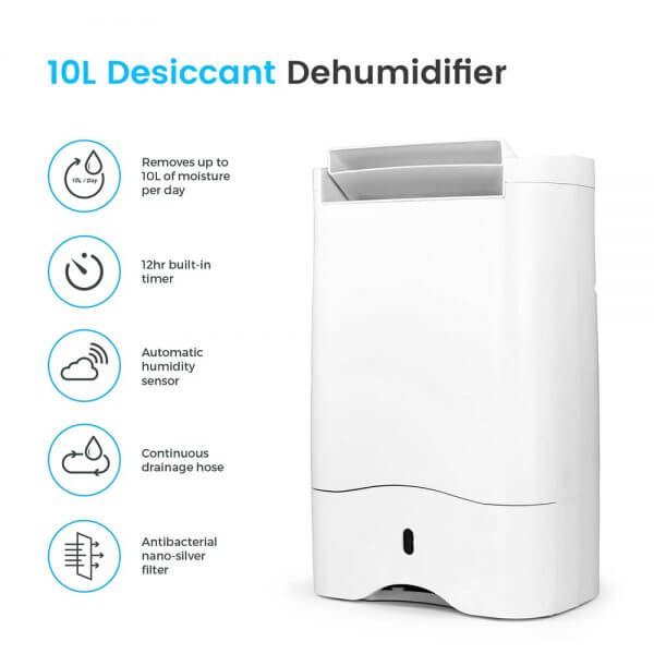 desiccant dehumidifier features