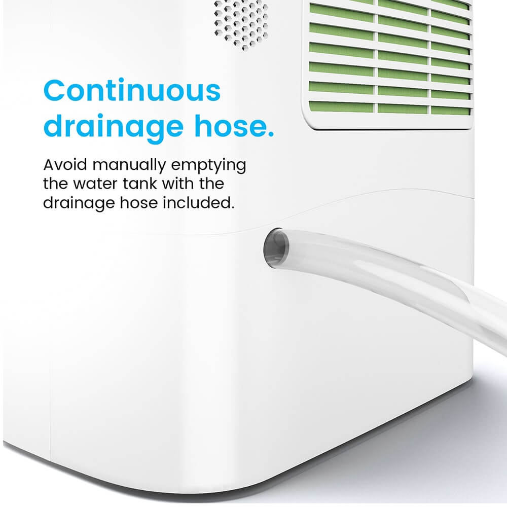 10L Desiccant Dehumidifier with Continuous Drainage - Ideal in Colder  Temperatures such as Basement & Garage