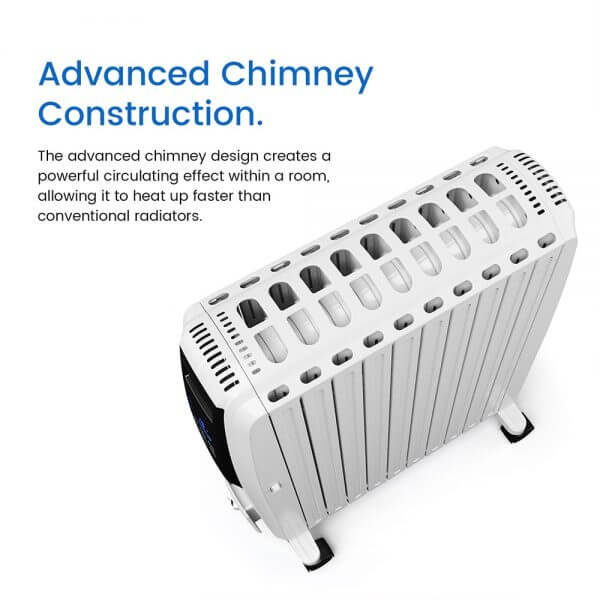 oil filled radiator advanced chimney construction
