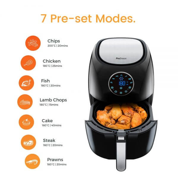 air fryer operation modes