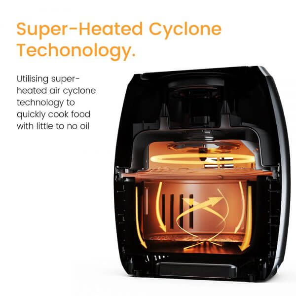 air fryer super-heated cyclone technology