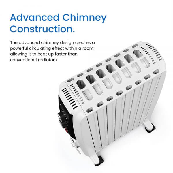 digital oil filled radiator advanced chimney construction