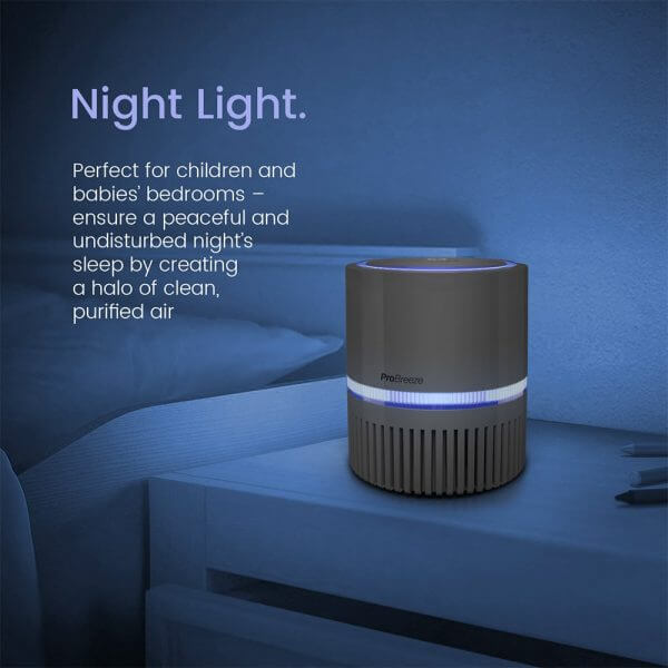 air purifier with night light