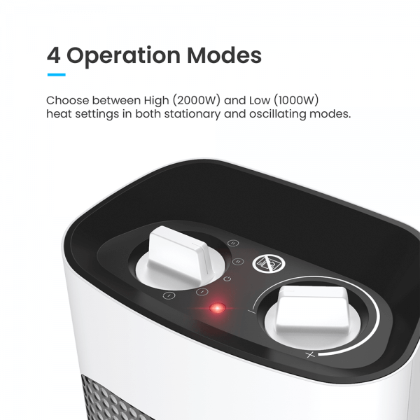 tower heater with four operation modes