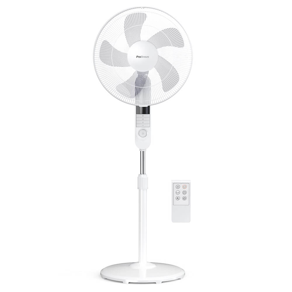 16-Inch Pedestal Fan with 4 Fan Modes and Remote Control