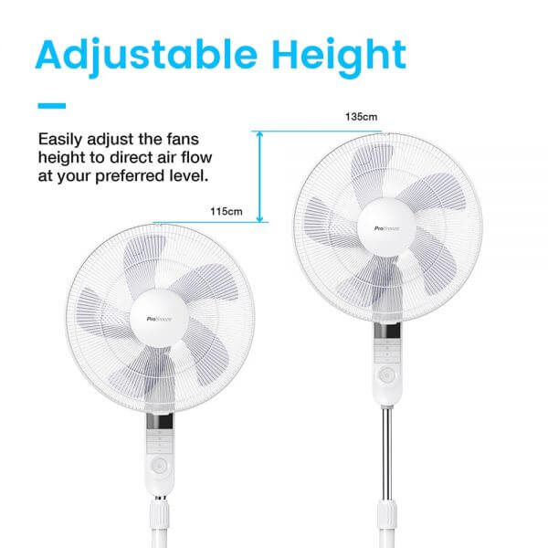 Pro Breeze Pedestal Fan Adjustable Height