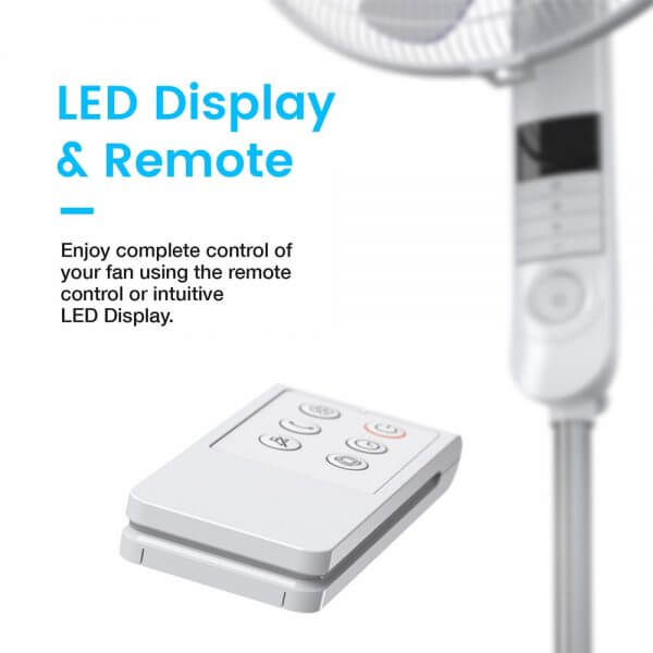 ProBreeze Pedestal Fan LED Display And Remote Control
